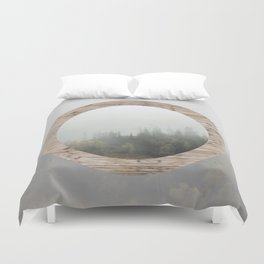 At the still point of the turning world. Duvet Cover