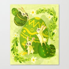 Easter Bunnies Canvas Print