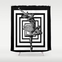 ballerina Shower Curtains featuring  Ballerina   by Saundra Myles