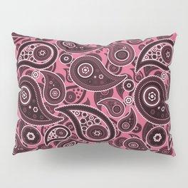 Blush Pink Paisley Pattern Pillow Sham