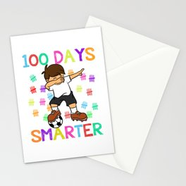 100 Day Smarter Dabbing Boy Stationery Cards
