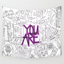 You Are - Fuchsia Wall Tapestry