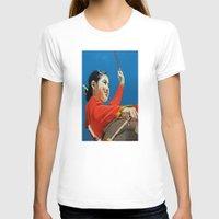 korean T-shirts featuring Korean Drummer Girl by Robert S. Lee Art