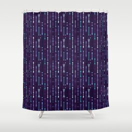 Scandi-Sticks B - Vertical - Glow Shower Curtain
