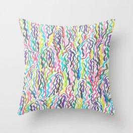 Rainbow Sea Weed Throw Pillow