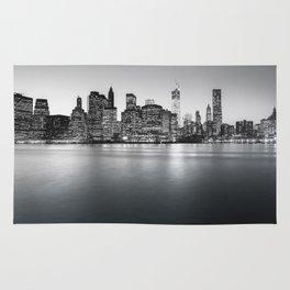 New York City Skyline - Financial District Rug