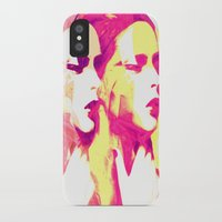 faces iPhone & iPod Cases featuring Faces by Paola Rassu