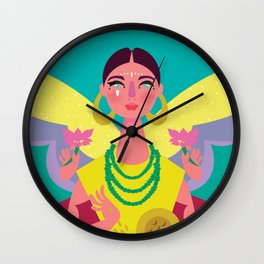 Lakshmi The Goddess of Abundance Wall Clock