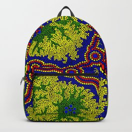 Aboriginal Art Authentic - Grasslands Backpack