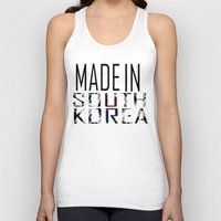 korea Tank Tops featuring Made In South Korea by VirgoSpice