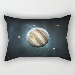 A Portrait of the Solar System: Jupiter Rectangular Pillow