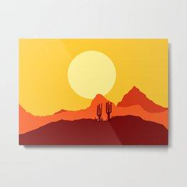 Mojave desert scene Metal Print
