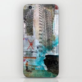 Falling from balconies iPhone Skin