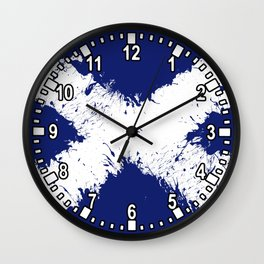 in to the sky, scotland Wall Clock
