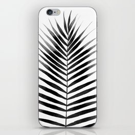 Palm Leaf Watercolor | Black and White iPhone Skin