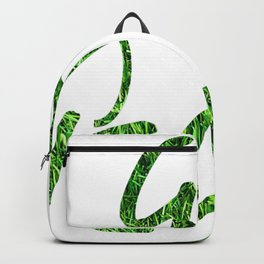 Go Vegan Leaf Grass Backpack