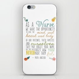 As a Nurse... iPhone Skin