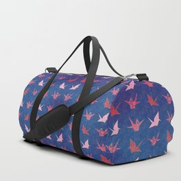 Chains of hanging paper cranes Duffle Bag