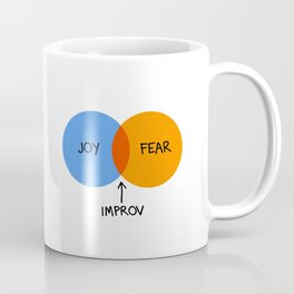 The Venn of Improv (Orange/Blue) Coffee Mug