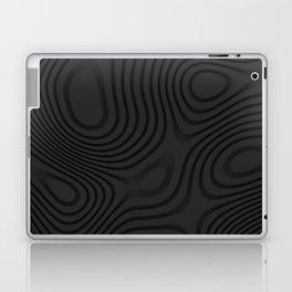 Organic Abstract 01 BLACK Laptop & iPad Skin