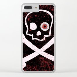 Jolly Roger With Eyeballs Clear iPhone Case