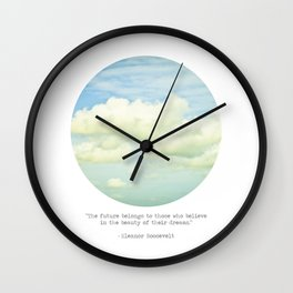 The beauty of the dreams Wall Clock