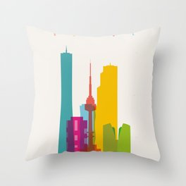 Shapes of Seoul accurate to scale Throw Pillow