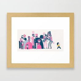 It was a big deal Framed Art Print