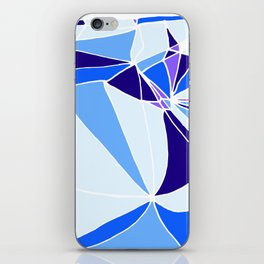 Blue mosaic Abstract artwork iPhone Skin
