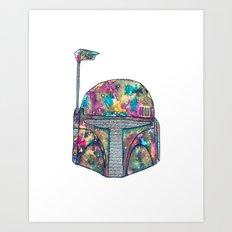 Boba Fett Galaxy Art Print