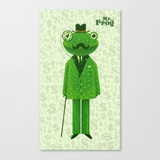 Mr. Frog Canvas Print