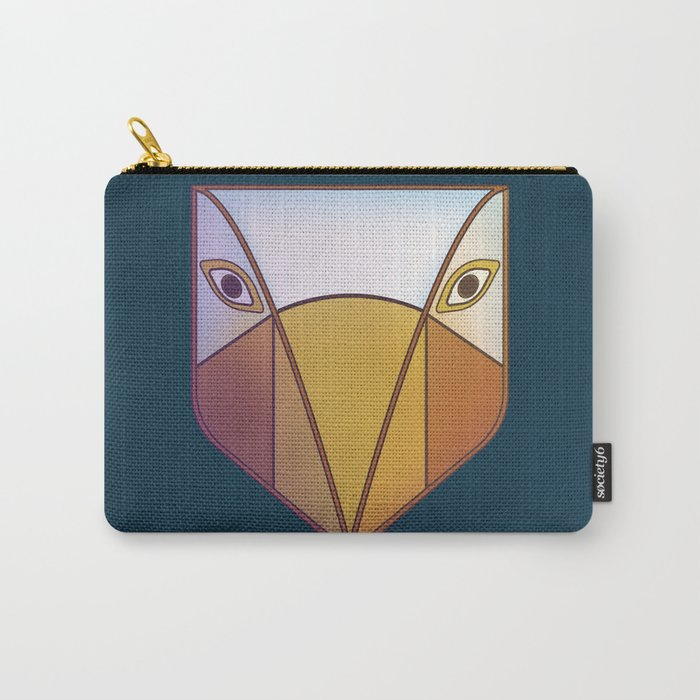 Bird tribal mask Carry-All Pouch