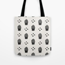 Stamped Potted Succulents Tote Bag