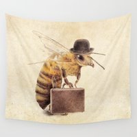 bee Wall Tapestries featuring Worker Bee by Eric Fan