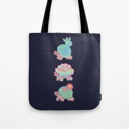 Cactus tortoise Tote Bag