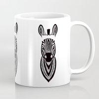 zebra Mugs featuring Zebra by Art & Be