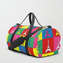 Pop art Paris Duffle Bag