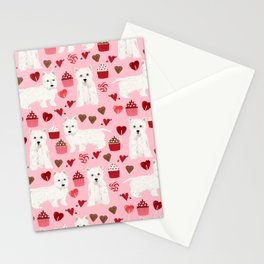 Westie west highland terrier dog breed valentines day cute dog person must have gifts pet portraits Stationery Cards