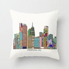 oklahoma city skyline Throw Pillow