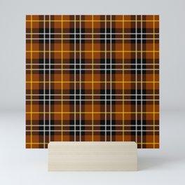 orange plaid pattern Mini Art Print