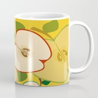 apple Mugs featuring apple by vitamin