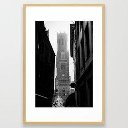 Belfry of Bruges Framed Art Print