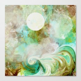 Wicked Wave in Aqua Canvas Print