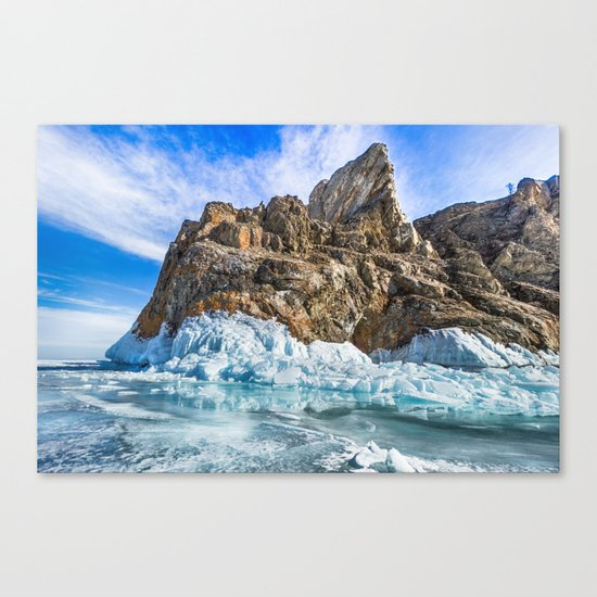 Sleeping dragon. Lake Baikal, island Olkhon Canvas Print