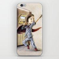 superhero iPhone & iPod Skins featuring Serial Superhero by Allan McInnes