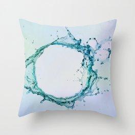 Water Splash 4 Throw Pillow