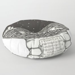 Mermaid Snow Globe Floor Pillow