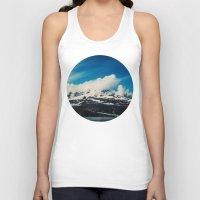 alaska Tank Tops featuring Alaska Mountain by Leah Flores