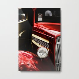 Classic Car in Red Metal Print