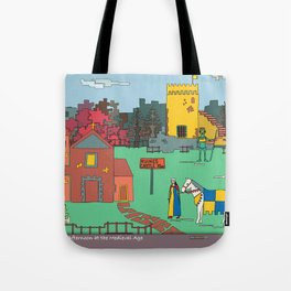 Afternoon at the Medieval Age Tote Bag